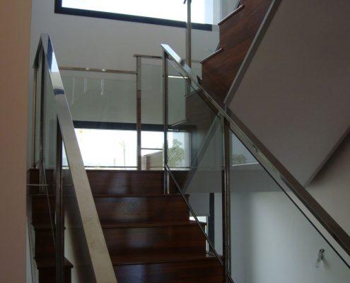 Barandillas met licas de acero inoxidable aluminio y - Barandillas escaleras modernas ...